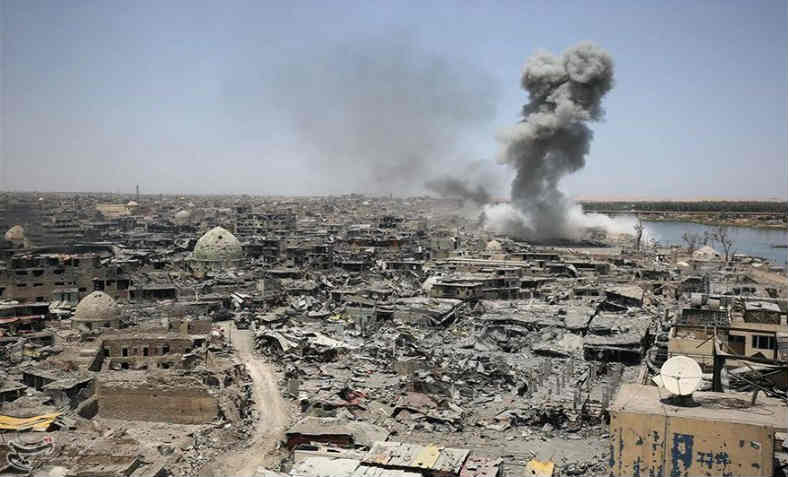 Airstrike in Mosul. Photo: Tasnim News