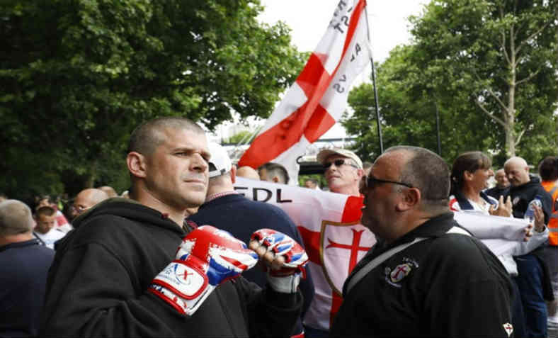 EDL Racist March. Photo: AFP