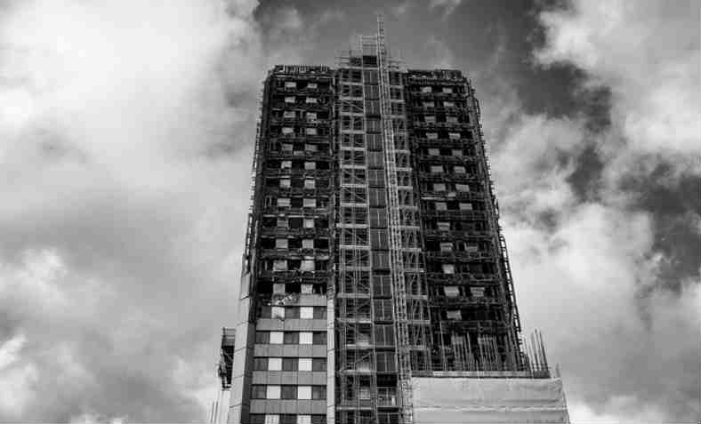 Grenfell Tower after the fire. Photo: Guido van Nispen