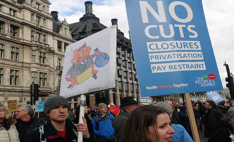 Demonstration against NHS privatision. Photo: Gwydion M. Williams