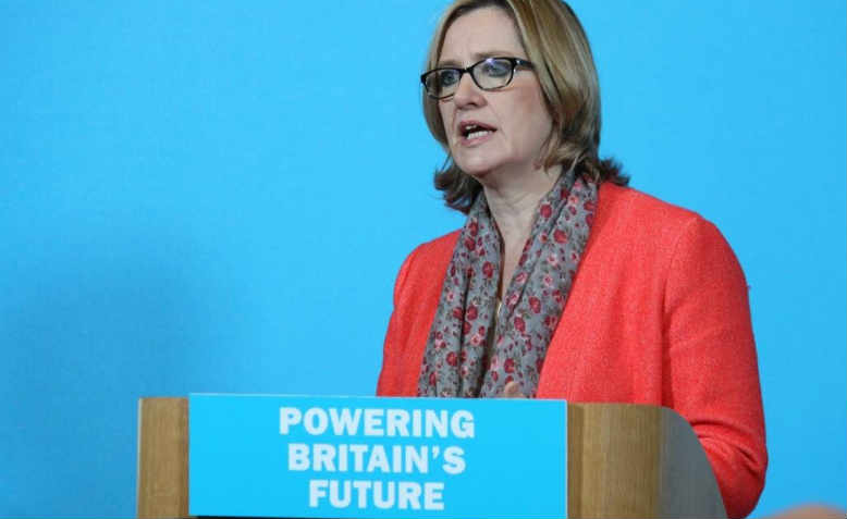 Amber Rudd addressing the Institute of Civil Engineers in 2015. Photo: Flickr/ Department of Energy and Climate Change