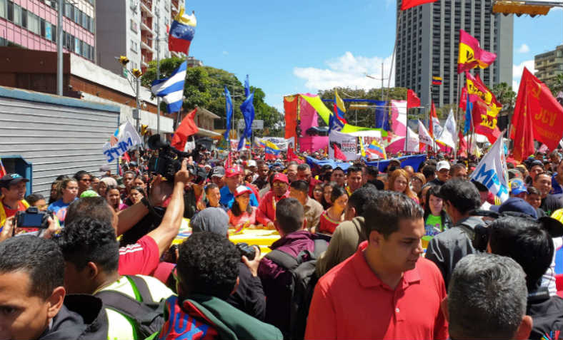 Chavista demonstration in Caracas, February 2019. Photo: Ahmad Kaballo