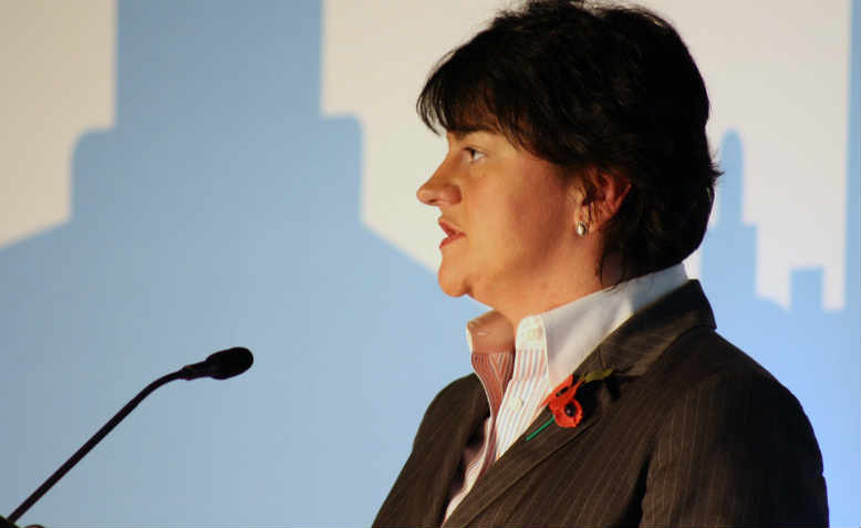 Arlene Foster speaking at the Centre for Economic Empowerment at Belfast in 2011