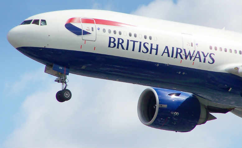 A British Airway's Boeing 777