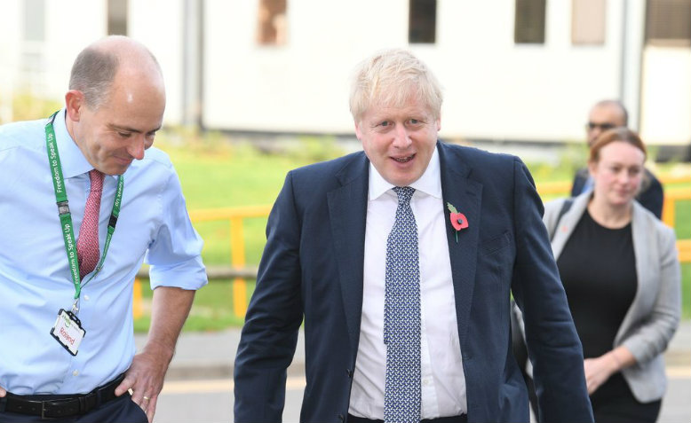 Boris Johnson booed out of Addenbrookes hospital, October 2019. Photo: Cambridgeshire Live