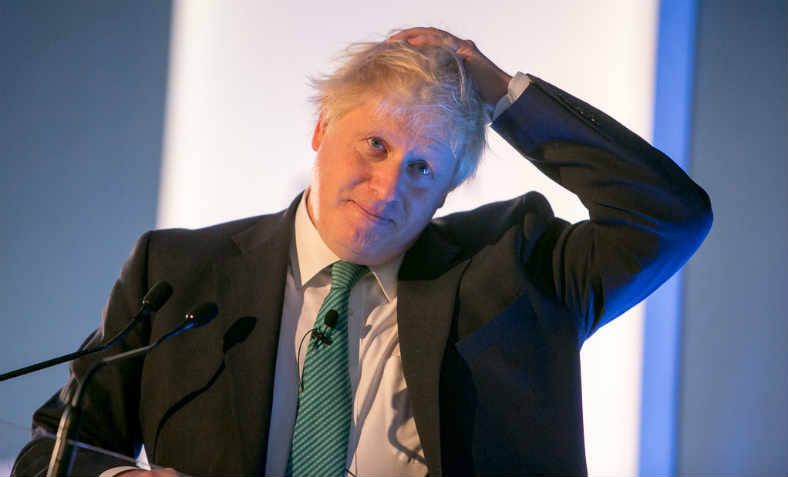 Boris Johnson at the Chatham House London Conference in 2017
