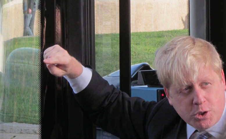 Boris Johnson as London Mayor in 2014. Photo: Flickr/David Holt