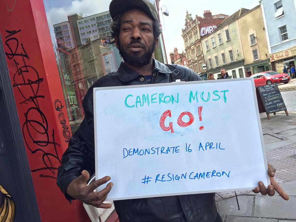 Angry Bristolian demands Cameron must go