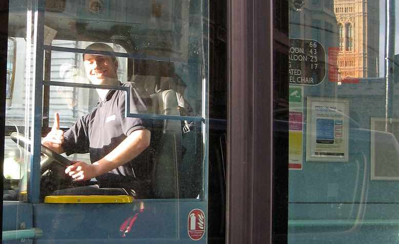 London bus driver in 2008