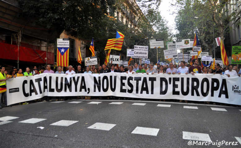 Catalonia independence demonstration in 2012