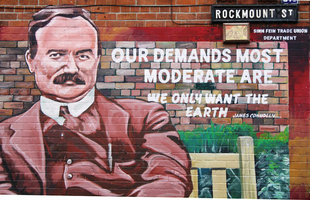 James Connolly mural in Rockmount Street, Belfast