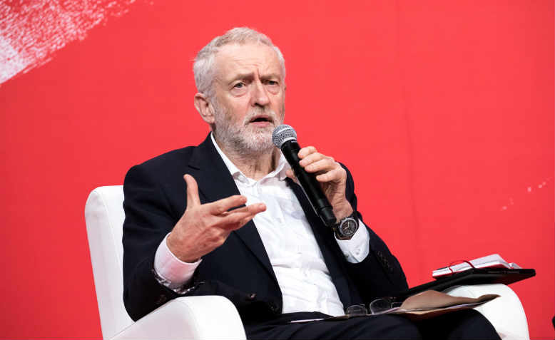 Corbyn speaking in 2017. Photo: Flickr/PES Communications