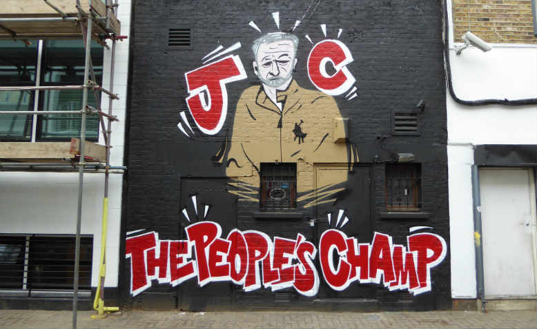 Jeremy Corbyn graffiti from 2016, Camden. Photo: Flickr/Duncan C