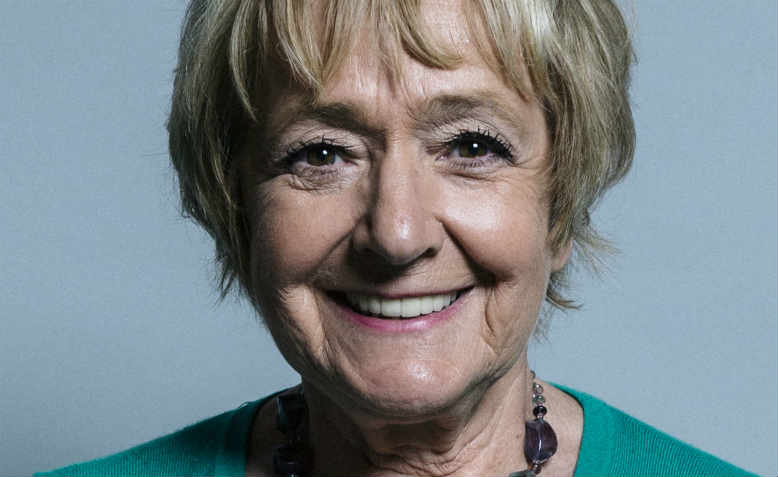Official portrait of Dame Margaret Hodge, June 2017