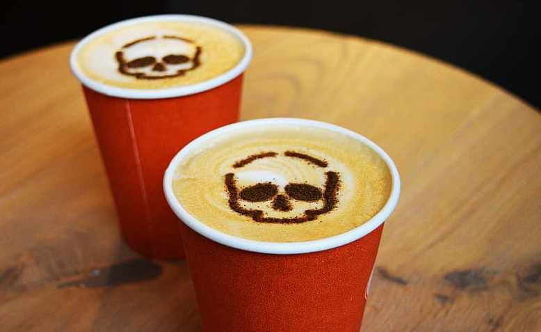 Death head coffee to go. Graphic: Pikist