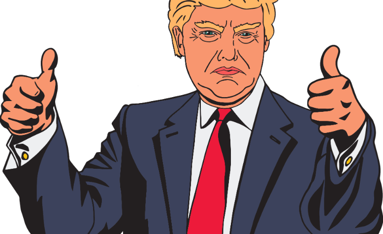 Donald Trump registering his approval. Graphic: Pixabay