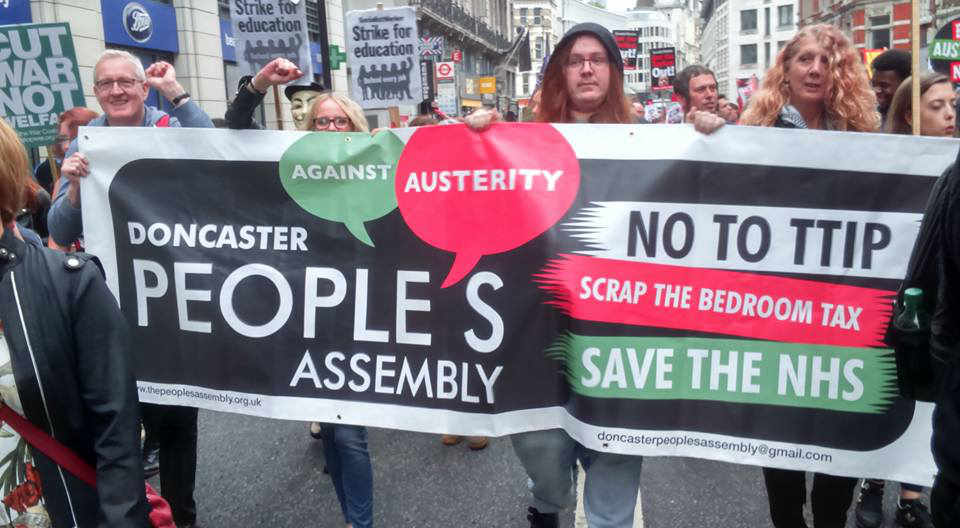 Doncaster People's Assembly takes to the streets for last year's national demonstration