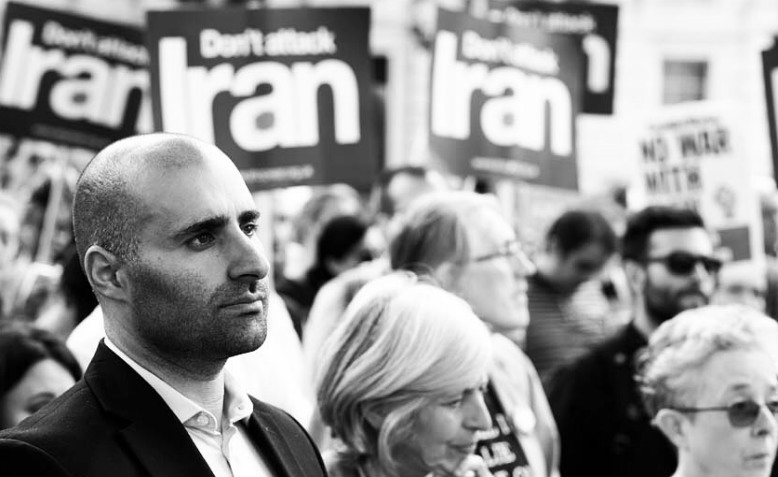 'Don't attack Iran protest at Downing Street, June 2019. Photo: Jim Aindow