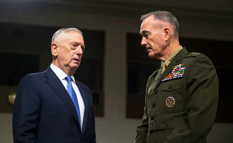 Defense Secretary Jim Mattis & Gen. Joe Dunford preparing for war in 2017
