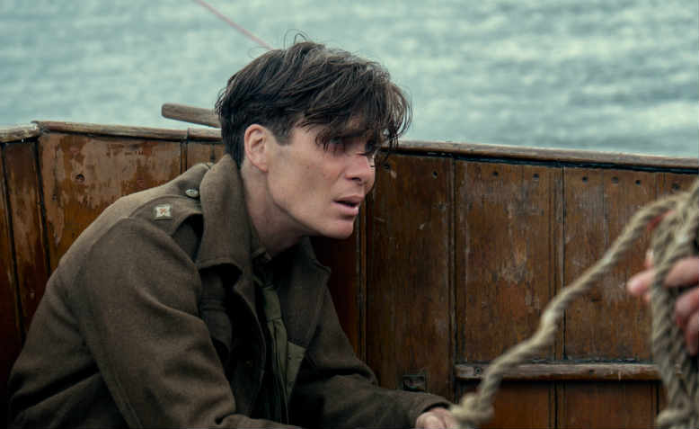 Cillian Murphy as the shellshocked squaddie in Christopher Nolan's Dunkirk (2017)