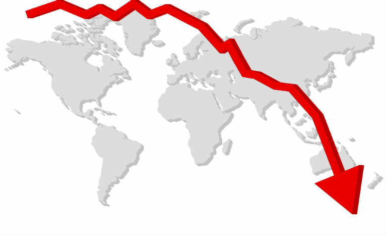 Global economic decline. Graphic: Pixabay