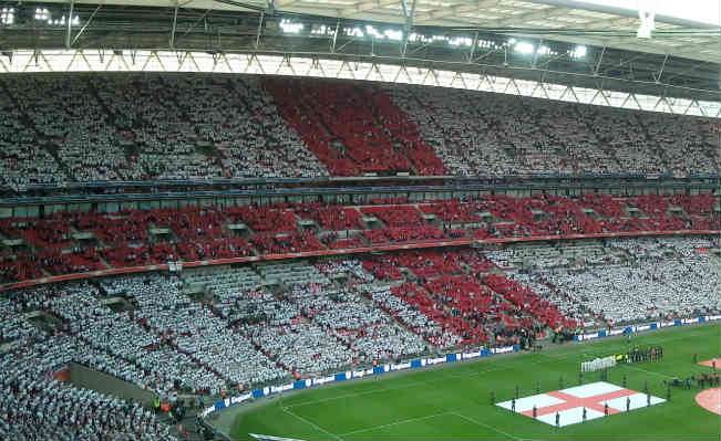 England Supporters at Wembley Stadium. Photo: Wikimedia Commons