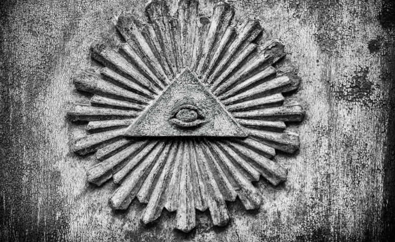 The eye symbol of the Illuminati, an enlightenment era secret society