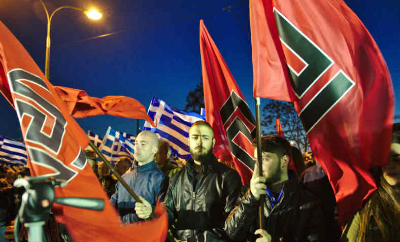 Golden Dawn rally in Athens, 2015. Photo: Wikipedia