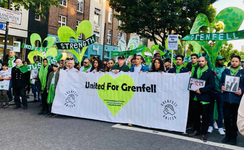 Grenfell Silent March, 15th June 2019. Photo: Isabel Carr