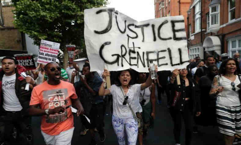 Justice for Grenfell protest. Photo: Green Left Weekly