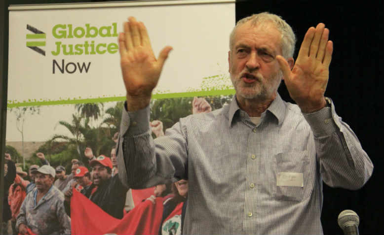 Jeremy Corbyn speaking at Global Justice Now in 2015