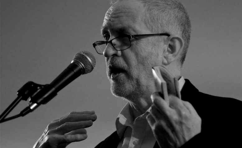 Jeremy Corbyn speaking in 2016