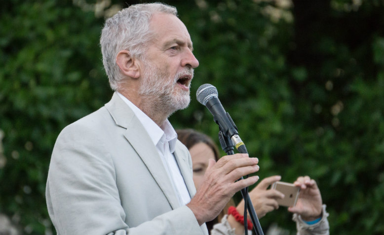 Jeremy Corbyn leadership election rally August 2016. Photo: Wikimedia Commons