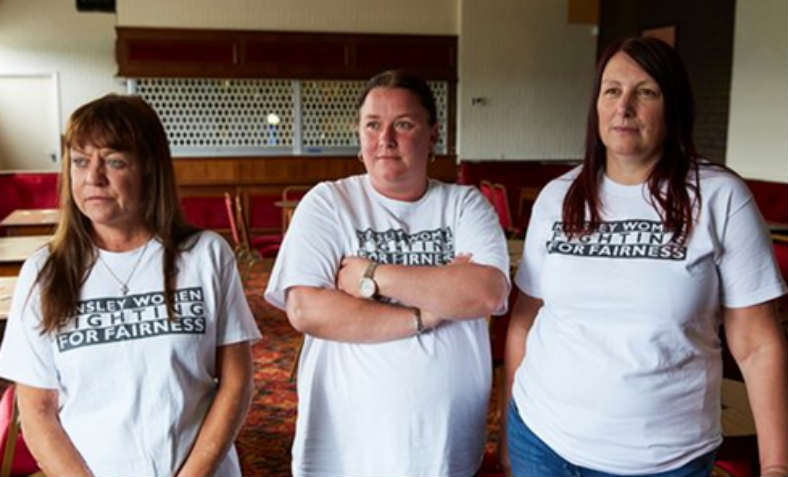 The 'Kinsley Three' - Lesley Leake, Marice Hall and Karen McGee. Photo: John Westmoreland