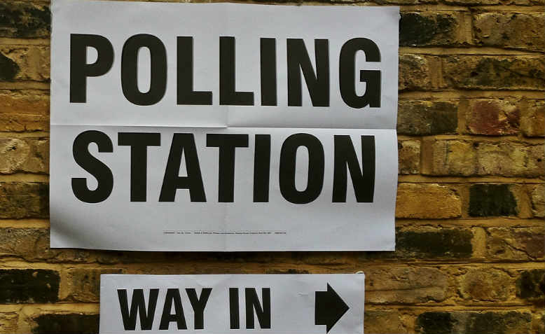 A London polling station