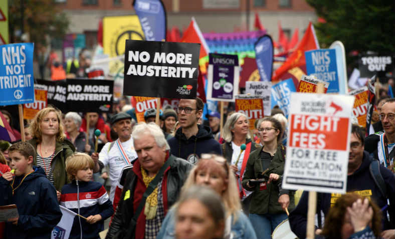 People's Assembly Demonstration Against Austerity, Take Back Manchester Festival 2017. Photo: Jim Aindow