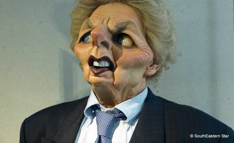 Margaret Thatcher's Spitting Image puppet, part of the Imperial War Museum's permanent collection