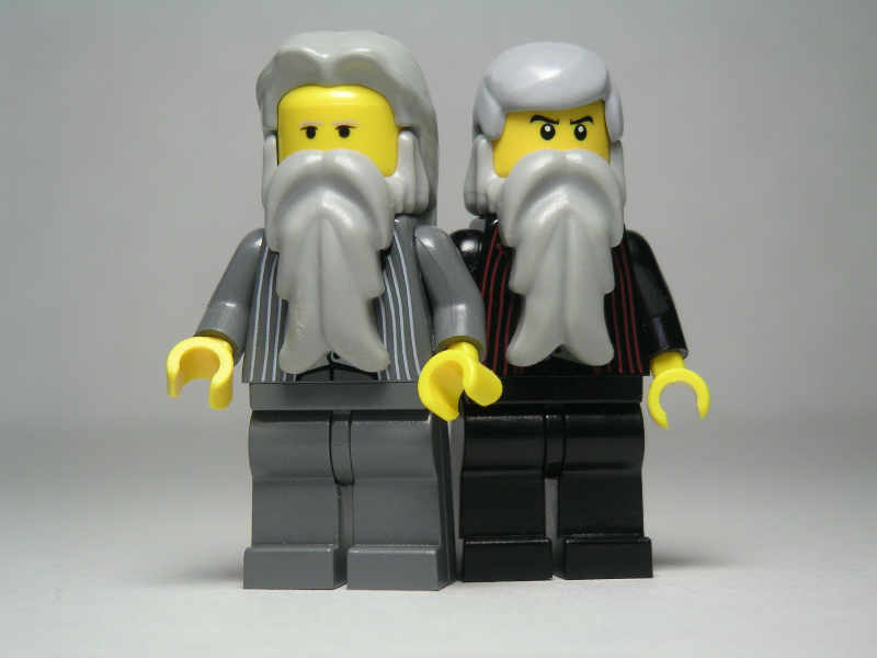 Karl Marx and Frederich Engels in lego form