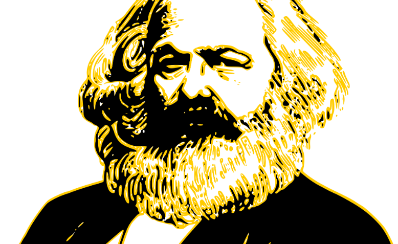 Karl Marx the icon. Graphic: Pixabay/OpenClipart-Vectors