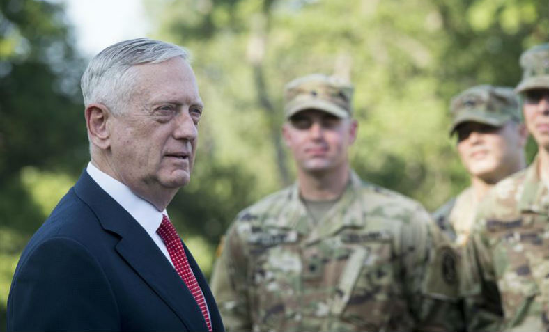 John Mattis addresses U.S. soldiers at Myer-Henderson base. Photo: U.S. Department of Defence