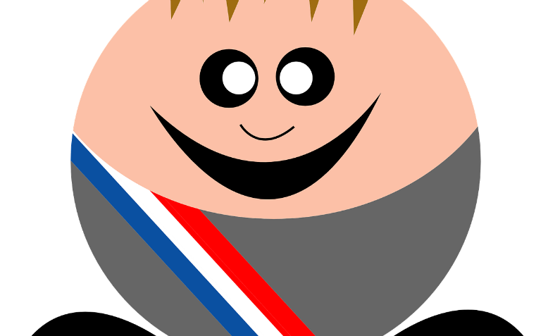 A cartoon mayor. Graphic: Pixabay