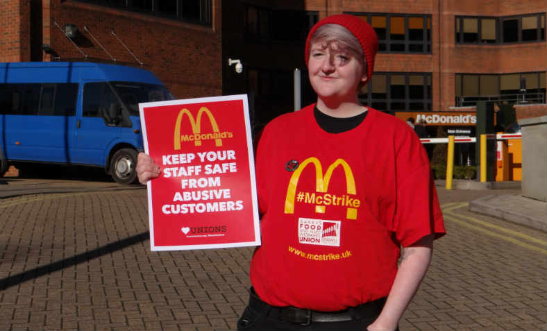 Lauren McCourt, McDonald's worker and BFAWU member, February 2018
