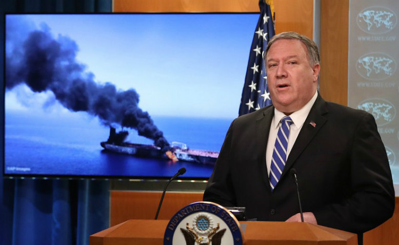Mike Pompeo speaking in Washington, June 13th 2019. Photo: Win McNamee/Getty Images