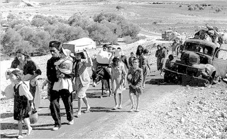 Palestinian families fleeing Galilee in 1948. Photo: Wikipedia
