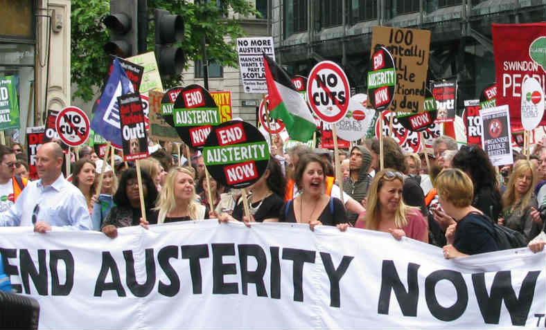 People's Assembly Demonstration against austerity. Photo: Peter Damian