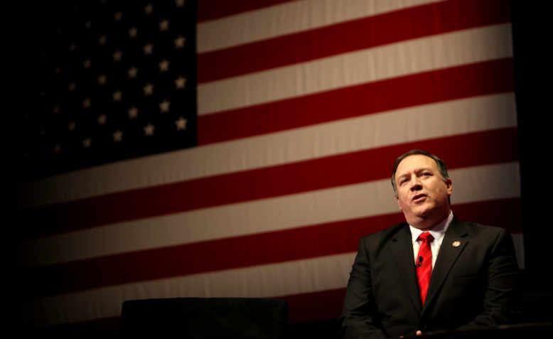 Mike Pompeo speaking in Washington in 2012