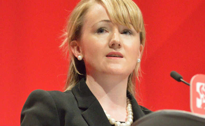 Rebecca-Long Bailey speaking at Labour Party Conference in 2016