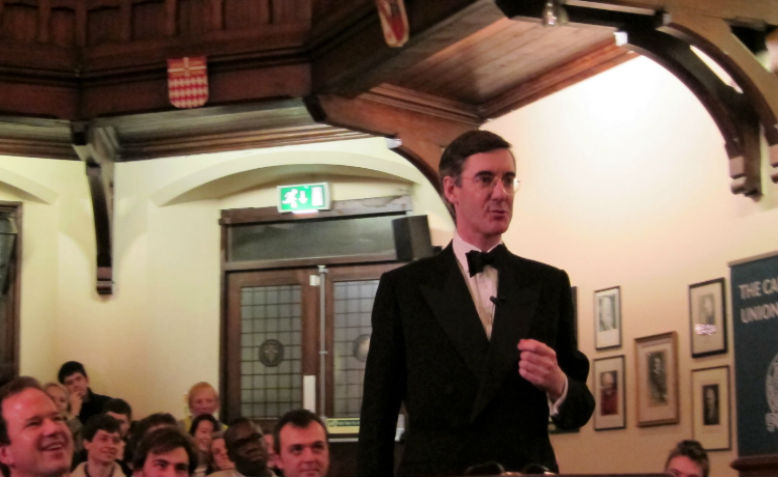 Jacob Rees-Mogg debating at the Cambridge Union, January 2012. Photo: Cantab12