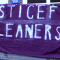 'Justice for Cleaners' banner outside SOAS. Photo: ReelNews