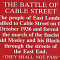 A plaque commemorating the Battle of Cable Street. Photo: Flickr/Spixey